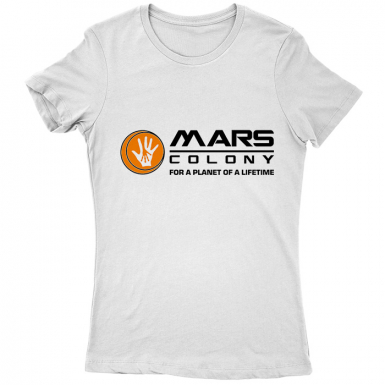 Mars Colony Womens T-shirt