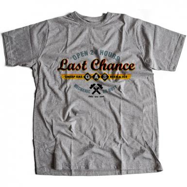 Sawyers Last Chance Gasoline Mens T-shirt