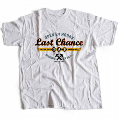 Sawyers Last Chance Gasoline Mens T-shirt