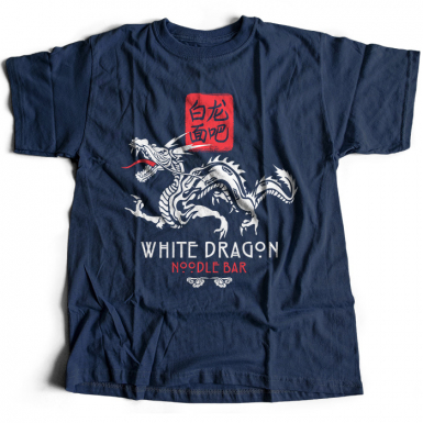 White Dragon Noodle Bar Mens T-shirt