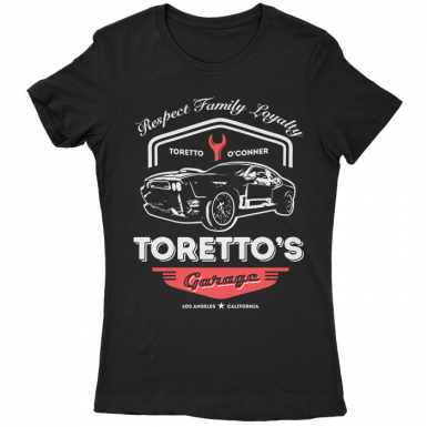 Toretto's Garage Womens T-shirt