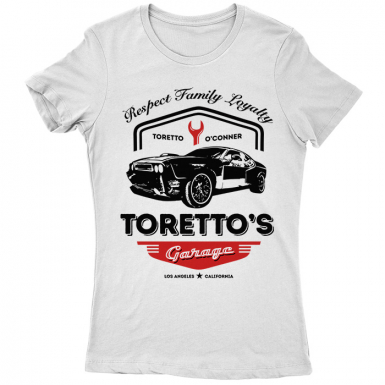 Toretto's Garage Womens T-shirt