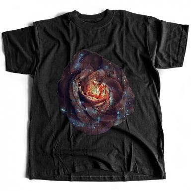 Galactic Rose Mens T-shirt