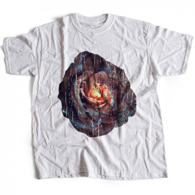 Galactic Rose Mens T-shirt