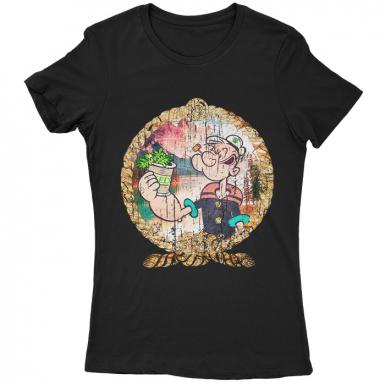 Pop Eye's Secret Womens T-shirt