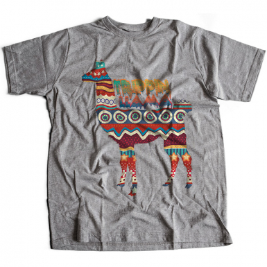 Trippin Llama Mens T-shirt