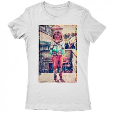 Tiger Head Womens T-shirt