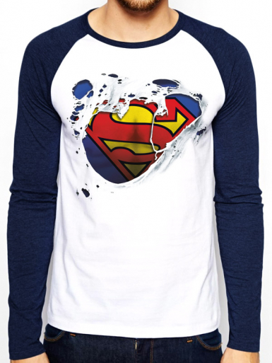Torn Logo - Superman Mens T-shirt