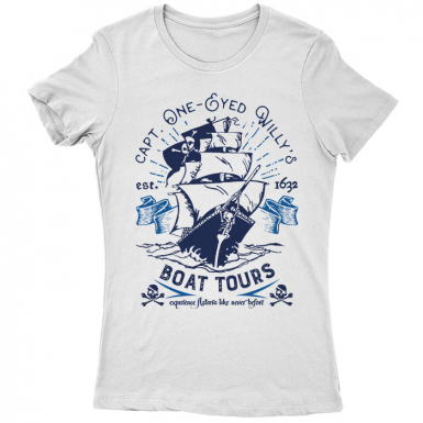 One-Eyed Willy's Boat Tours Womens T-shirt