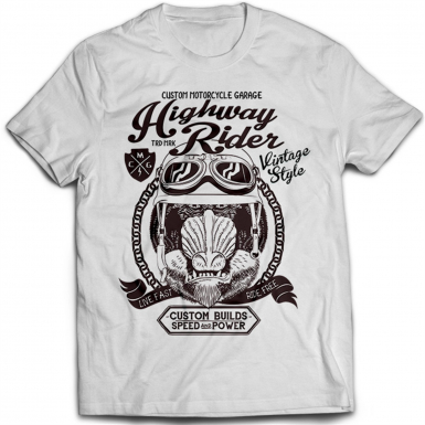 Highway Rider Mens T-shirt