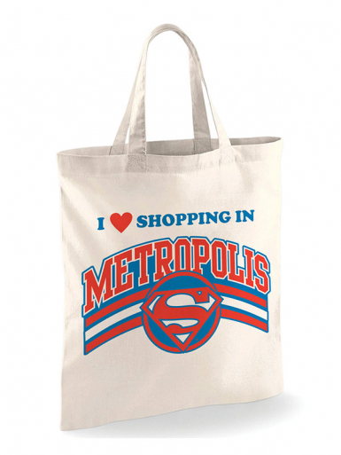 Shopping In Metropolis - Superman -  Unisex Tote Bag