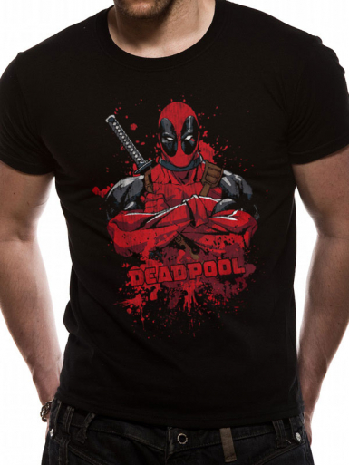 Splash - Deadpool Mens T-shirt