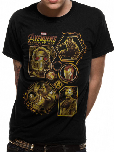 Block Characters - Avengers Infinity War Mens T-shirt