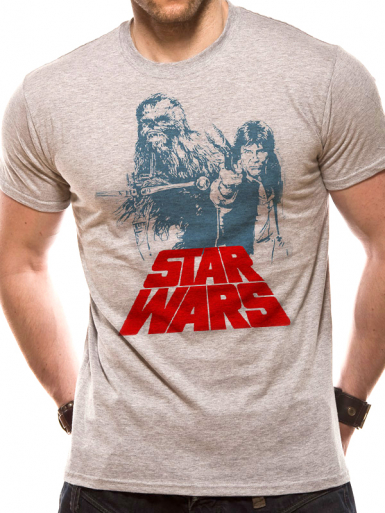 Han Solo & Chewie - Star Wars Mens T-shirt