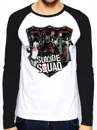 Group Shot - Suicide Squad Mens T-shirt