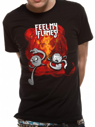 Feel My Flames - Adventure Time Mens T-shirt