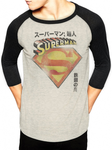 Japanese Logo - Superman Mens T-shirt