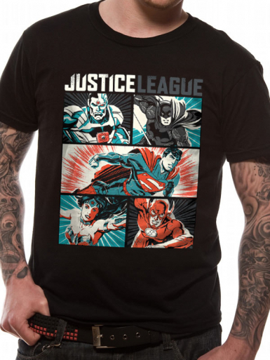 Pop Art - Justice League Mens T-shirt