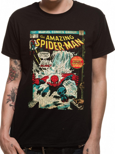 Comic Cover - Spiderman Mens T-shirt