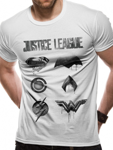 Logo - Justice League Mens T-shirt