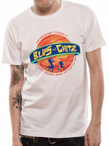 Blips And Chitz - Rick And Morty Mens T-shirt