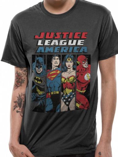 Line Up - Justice League Mens T-shirt