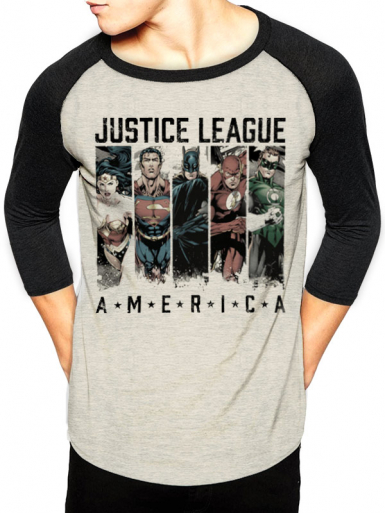 America - Justice League Mens T-shirt