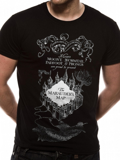 Marauders Map - Harry Potter Mens T-shirt
