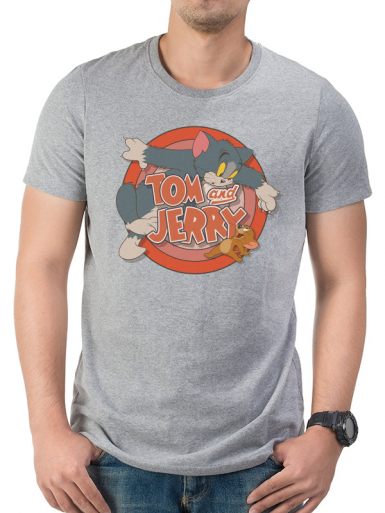 Logo - Tom And Jerry Mens T-shirt