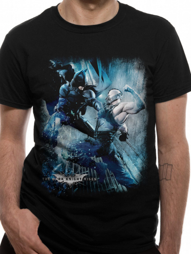 Bane Battle - Batman The Dark Knight Mens T-shirt