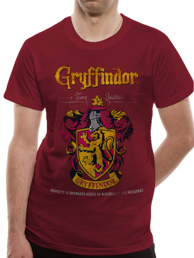Gryffndor Quidditch - Harry Potter Mens T-shirt