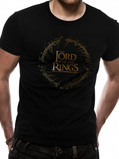 Gold Logo - Lord Of The Rings Mens T-shirt