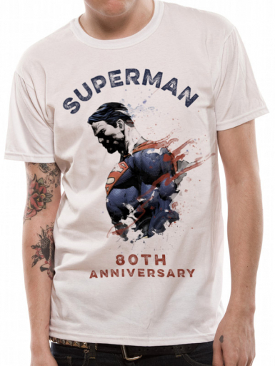 80th Anniversary - Superman Mens T-shirt