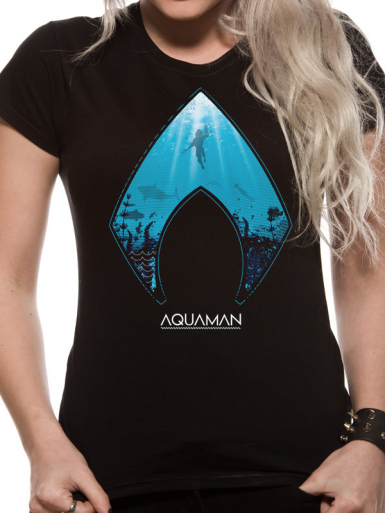 Logo - Aquaman  T-shirt