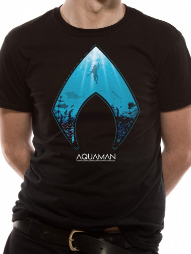 Logo - Aquaman Mens T-shirt