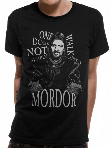 Walk Into Mordor - Lord Of The Rings Mens T-shirt