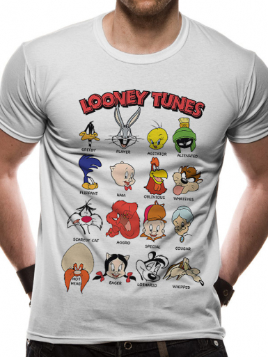 Faces - Looney Tunes Mens T-shirt