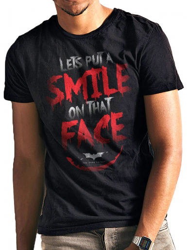 Smile - Batman Mens T-shirt