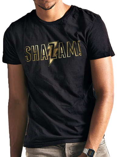 Gold Logo - Shazam! Mens T-shirt