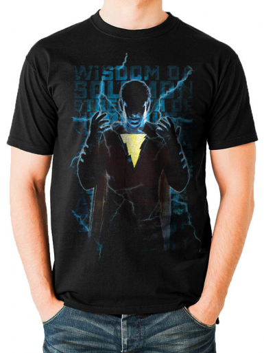 Heroic Text - Shazam! Mens T-shirt