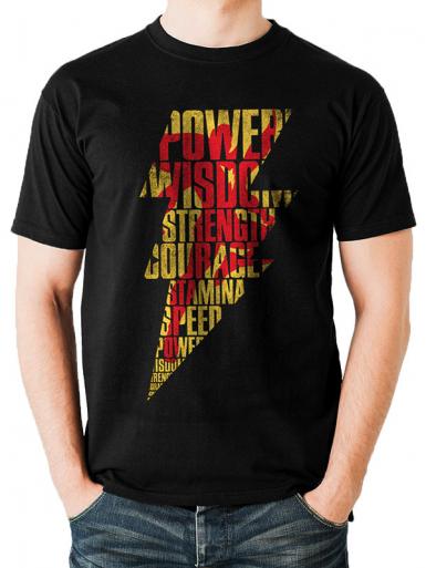 Lightning Silhouette - Shazam! Mens T-shirt