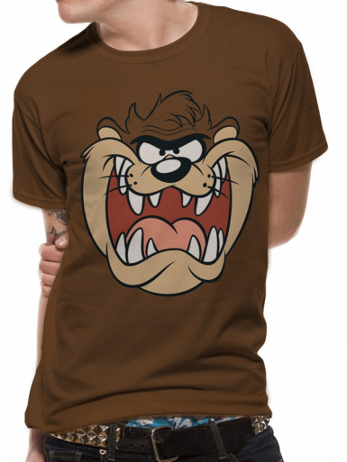 Taz Face - The Road Runner Show Mens T-shirt